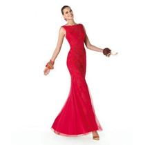 Vestido Largo Rojo Para Fiesta De Noche