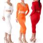 Crop Top, Falda Lápiz, Conjuntos,vestidos Casuales Cortos