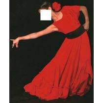 Bello Traje Disfraz Vestido Falda De Flamenco Talla S