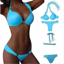 Hermoso Vestido De Baño Bikini Tanga Brasilera