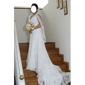 7d791a556 Vestido De Novia Talla M. Incluye Mantilla.