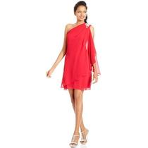 Vestido Americano Js Boutique, De Chifon. Solo Talla 12 (l)