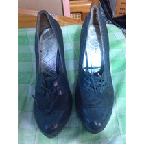 Zapatos Altos Marca Badoo Usados Color Gris
