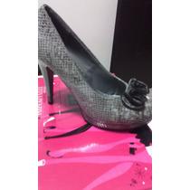 Hermosos Y Cómodos Zapatos Para Dama Color Gris Talla 37