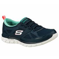 Skechers Para Damas 22704-nvgr 100% Originales.
