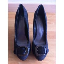 Zapatos Nine West Originales Grises Con Negro