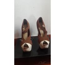 Zapatos Marron Marca Atrevida Tacones