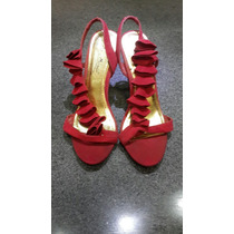 Zapatos De Vestir Anne Michelle Talla 36 1/2 Color Rojo