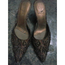 Zapatos De Vestir Apliques Lentuelas Tacon Bajo Para Dama