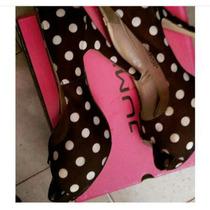 Bellos Zapatos De Lunares Color Marron #36