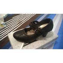 Zapatos Tacon Negro Pavitas 36