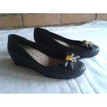 Zapatos De Dama Con Semi Plataforma Cómodos En Negro T 36