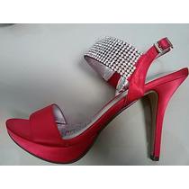 Sandalias Tacones Rojas Elegantes Cerere Talla 38
