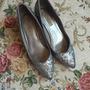 Espectaculares Zapatos Zara, Color Plata Con Escarcha, 37