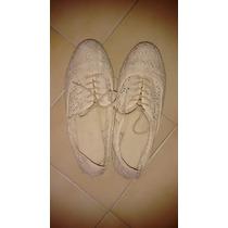 Zapatos Aldo Originales Usados Tipo Bolicheros De Encaje