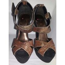 Sandalias Dorado/bronce Brillantes