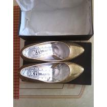 Zapatos Importados De Dama Talla 38 Dorados