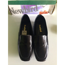 Zapatos De Dama New Bird 100% Cuero Original Negros Talla 39