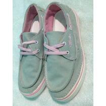 Zapato Dama Casual Sport Nuevo Comodo Gris Rosado