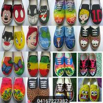 Zapatos Pintado A Mano
