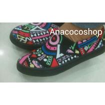 Zapatos Cocuizas Tipo Toms Tribal Estampado Collage Colorido