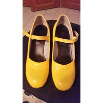 Vendo Zapatos De Flamenco Amarrillos