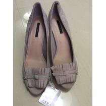 Zapatos Zara Nuevos Grises Talla 39
