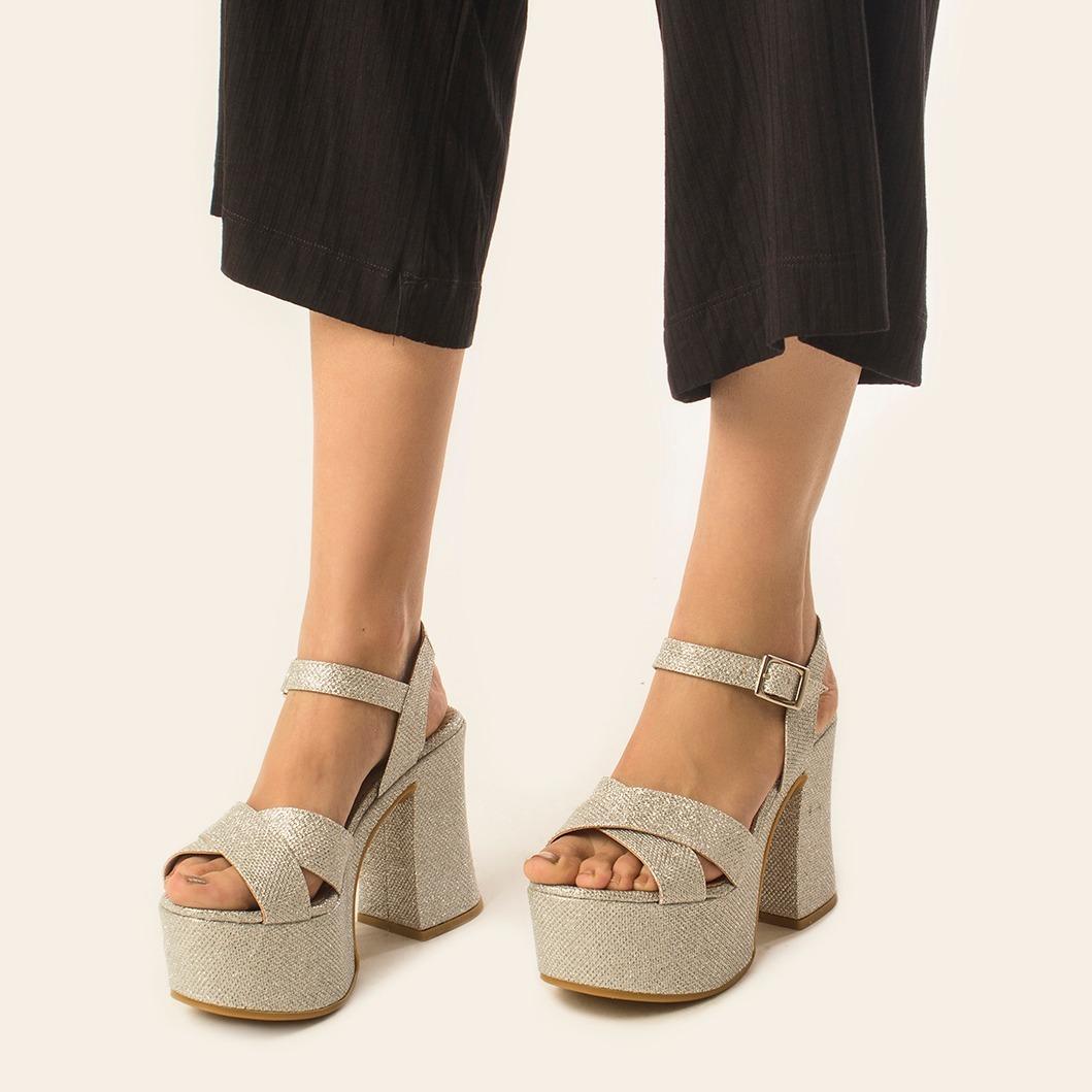 42d87a7eef5b5 Sandalias De Mujer Fiesta Zapatos Moda Vestir Taco Hermosas ...