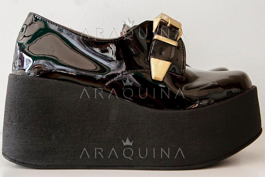 0658a74d98c5a Cargando zoom... zapatos plataforma mujer - zueco charol moda dama -  araquina