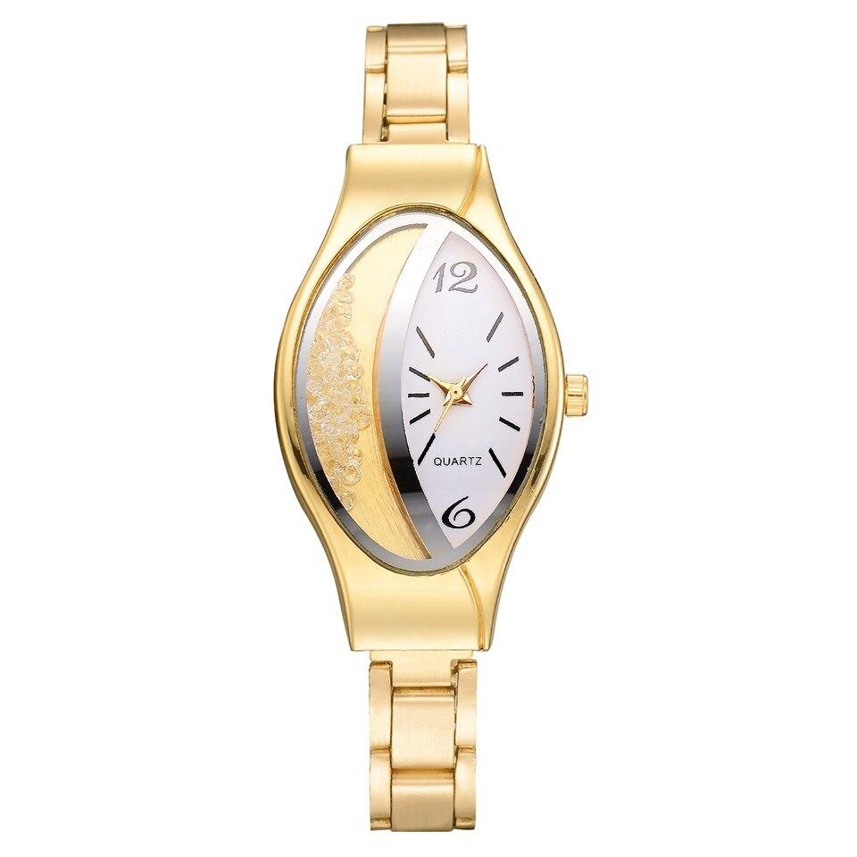 Braceletwrist Imitación Elipse Reloj De Diamante Mujeres Cre nv8wmN0O