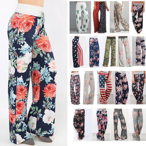 mujeres casual pantalones sueltos boho #10 3xl