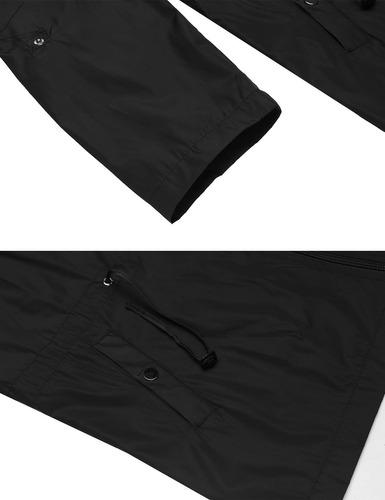 mujeres chaqueta con capucha manga larga  impermeable