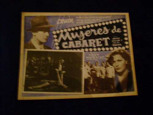mujeres de cabaret meche barba  cartel  poster b 31.10.17