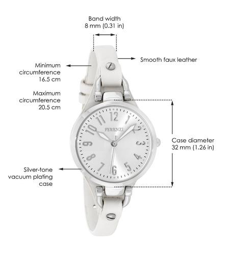 mujeres de ferenzi | reloj clásico de piel de imitación de t
