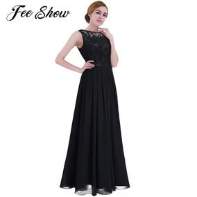 b3576e112 Vestido Negro Con Falda En Tablones De Shifon Y Encaje $690 - Vestidos de  Mujer Azul oscuro en Jalisco en Mercado Libre México
