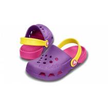 Crocs Talla J3 (35) Modelo Electro Kids, Tricolor