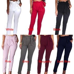 zapatos para correr tan baratas envío complementario Mujeres Ol Pantalones De Cintura Alta Branco S