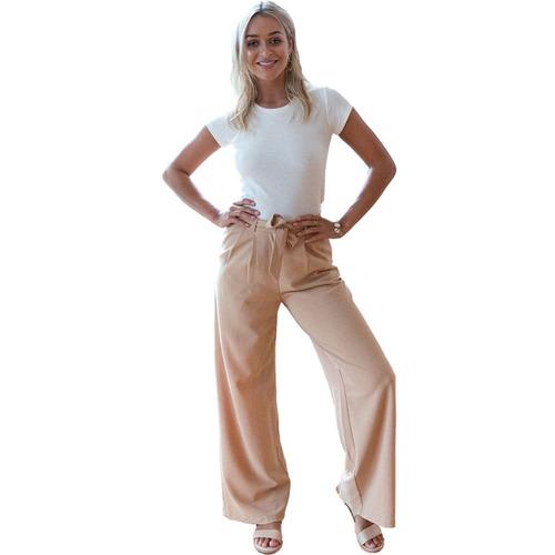 mujeres pantalones anchos pantalones de camelo m
