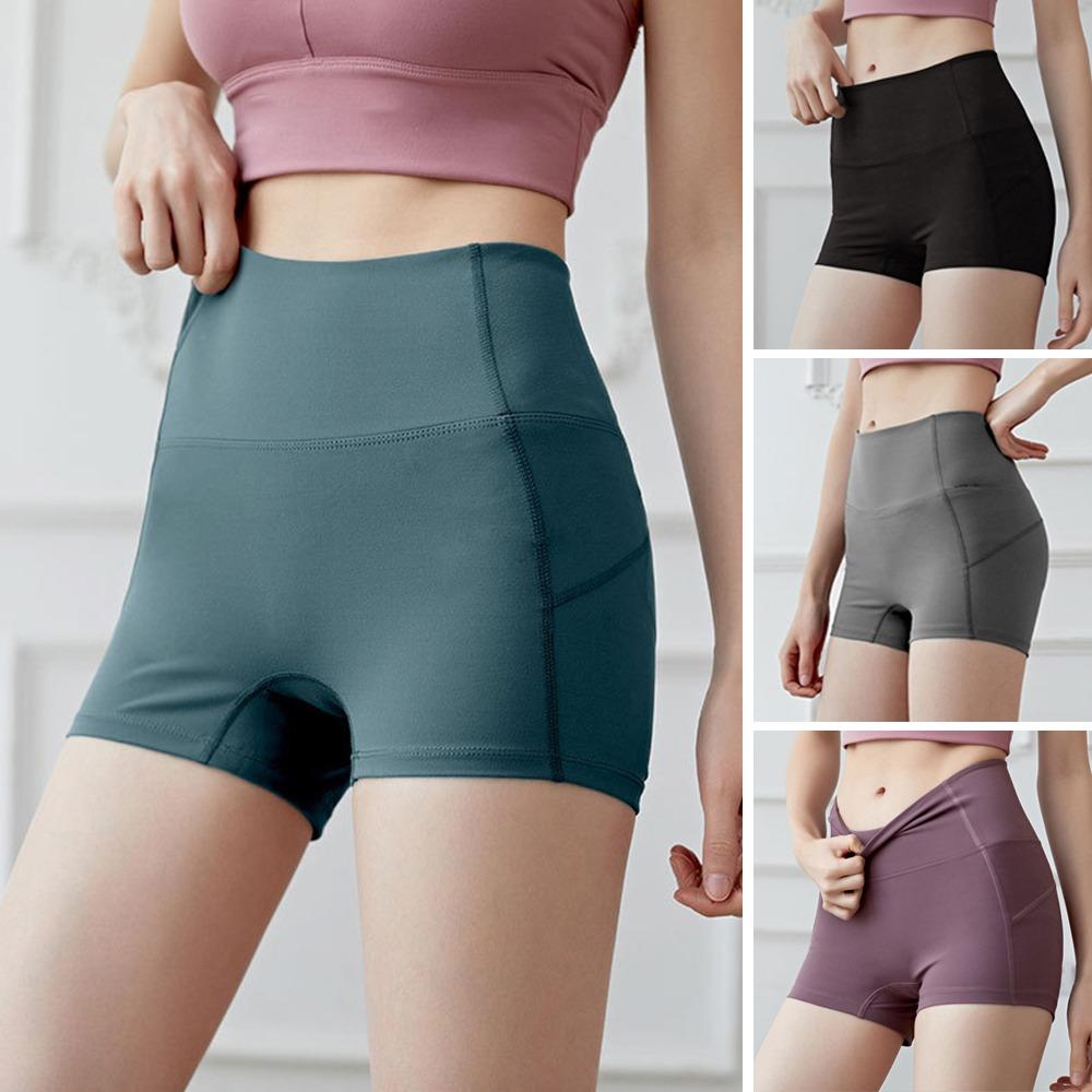 Mujeres Pantalones Cortos De Yoga Cintura Alta Push Up Sin C 5 443 En Mercado Libre