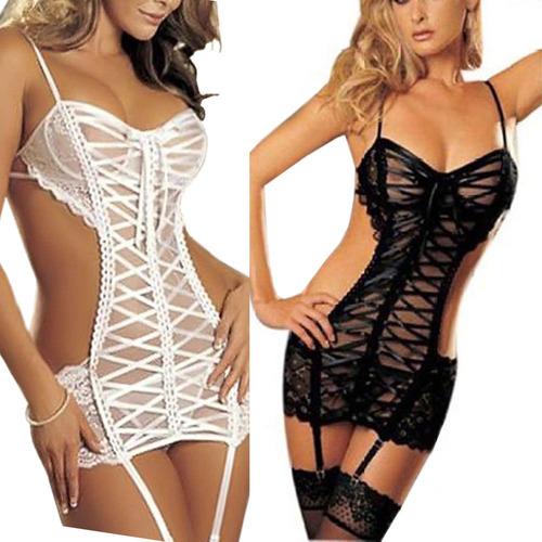 d4f9b72f6383 Mujeres Ropa Interior Sexy Mini Vestido... (s, White)