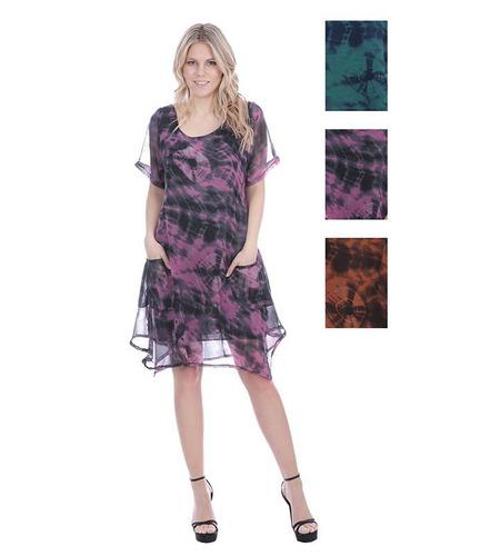 mujeres 's de gasa los vestidos - circular nube imprime caso