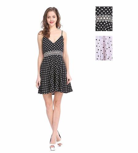 mujeres 's prima vestidos cortos - polca punto con el recort