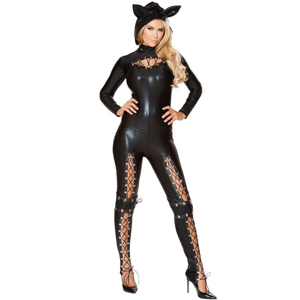 Mujeres S Traje Mujeres De Halloween Traje Negro L 58846 En - Trajes-de-hallowen