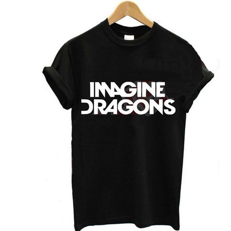 2b152d5bfc2bf mujeres t-shirt verano moda imagine dragons tee letras de im. Cargando zoom.