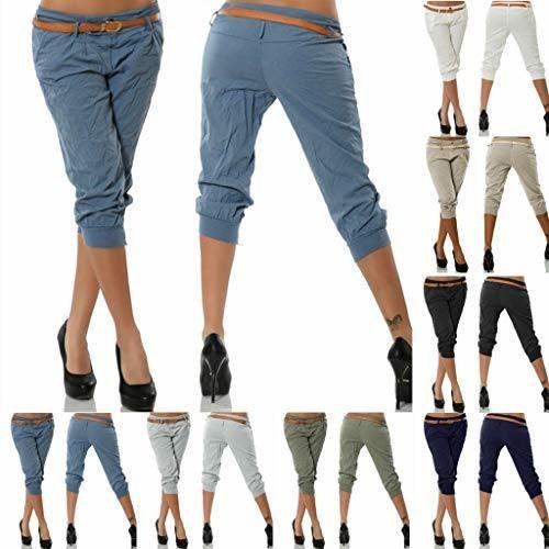 diseño de calidad 97b4c 036d2 Mujeres Verano Cintura Elástica Boho Check Pantalones Baggy