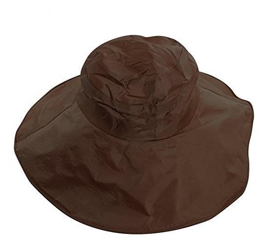 VALICLUD Sombrero de Lluvia para Mujer Sombrero para El Sol Borde Ancho Impermeable PVC Sombrero de Playa de Verano Sombrero Transparente Transparente Plegable