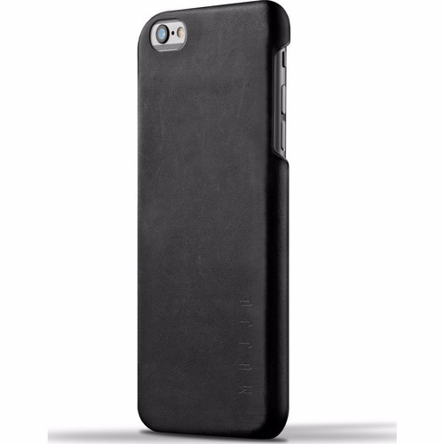 mujjo funda de cuero iphone 6/6s plus negro - phone store