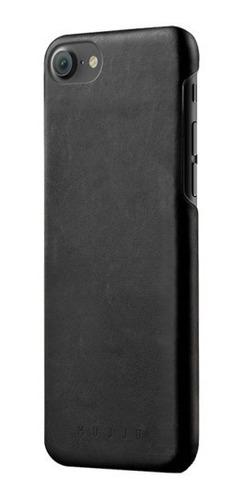 mujjo funda de cuero iphone 7 color negro apple original