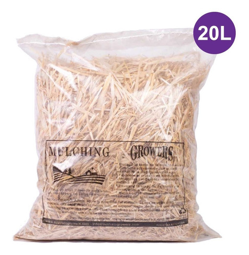 mulching (paja de trigo) 20l