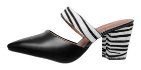 3ecc8d021 Sapato Mule Estampa De Oncinha Mulher Sapatos Outros Modelos ...